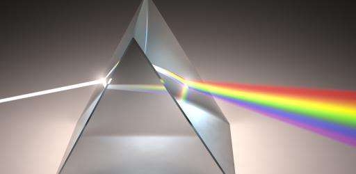 Beam dispersion in prism